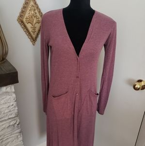 L.A. Hearts dusty pink duster. Size Small